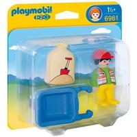Playmobil 1.2.3 Arbeider met kruiwagen Playmobil
