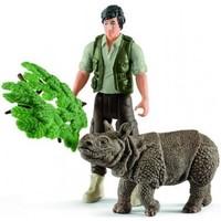 Schleich Schleich Ranger en neushoorn starterset 42428 - Wild Life - 6 x 9,5 x 6 cm