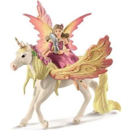 Schleich Schleich Pegasus Feya met gevleugelde eenhoorn 70568 - Speelfiguur - Bayala - 15 x 16 x 18 cm