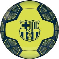 Bal FC Barcelona leer groot neon metallic