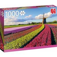 Puzzel veld met tulpen: 1000 stukjes