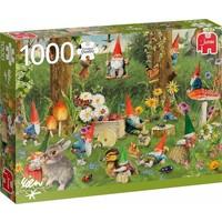 Puzzel Kabouters rand van het bos: 1000 stukjes
