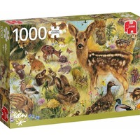 Puzzel jong wild leven: 1000 stukjes