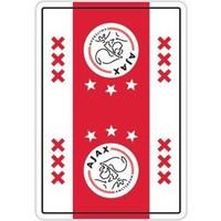 Speelkaarten Ajax wit/rood/wit XXX logo
