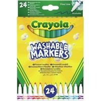 Viltstiften met dunne punt Crayola: 24 stuks