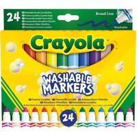 Viltstiften met kegelpunt Crayola: 24 stuks