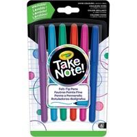 Take Note Afwasbare Viltstiften Crayola: 6 stuks