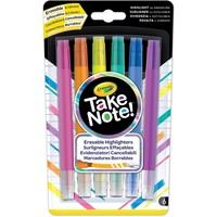 Take Note Uitwisbare Markeerstiften Crayola: 6 stuks