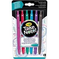 Take Note Afwasbare Gelpennen Crayola: 6 stuks