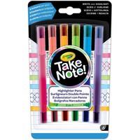 Markeerstiften met fijnschrijver Crayola: 6 stuks