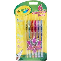 Glitter Gelpennen Crayola: 6 stuks
