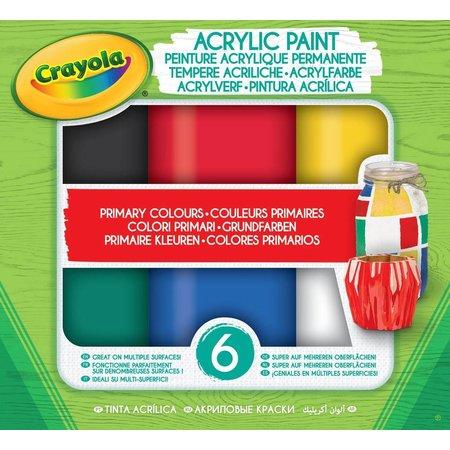 Crayola Acryl verf Primaire tinten Crayola: 6 stuks