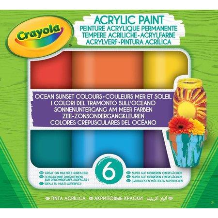Crayola Acryl verf Ocean-Sunset tinten Crayola: 6 stuks