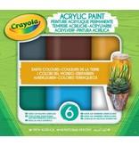 Crayola Acryl verf Aarde tinten Crayola: 6 stuks