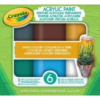 Acryl verf Aarde tinten Crayola: 6 stuks