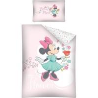 Dekbed Minnie Mouse ledikant flowers: 100x135/40x60 cm