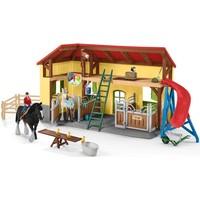 Schleich Paardenstal 42485 - Paard Speelfiguur - Farm World - 10,5 x 49 x 34,5 cm