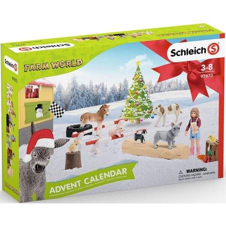 Schleich Schleich Adventskalender Boerderij 97873 - Farm World - 8 x 39 x 28,5 cm