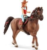 Schleich Schleich Hannah en Cayenne 42514 - Paard Speelfiguur - Horse Club - 5 x 18 x 15 cm