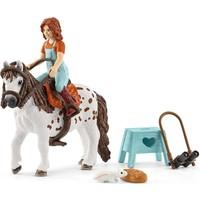 Schleich Mia en Spotty 42518 - Paard Speelfiguur - Horse Club - 5 x 18 x 15 cm