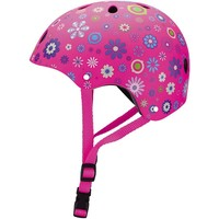 Helm Globber kids: flower roze