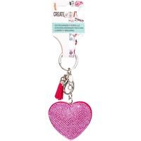 Sleutelhanger hart glitter Create It