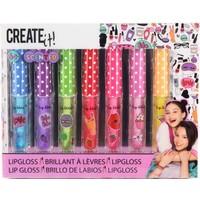 Lipgloss geurend Create It met glitter 7-delig