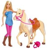 Barbie Paard en pop Barbie