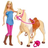 Paard en pop Barbie