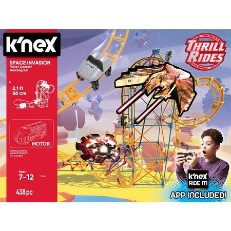K`nex Achtbaan Space Invasion K`nex: 438 stuks