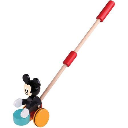 Mickey Mouse Duwstok hout Mickey Mouse met trommel 18+ mnd