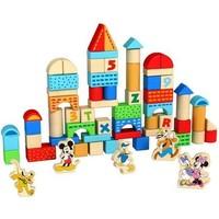Blokken hout Mickey Mouse 100 stuks