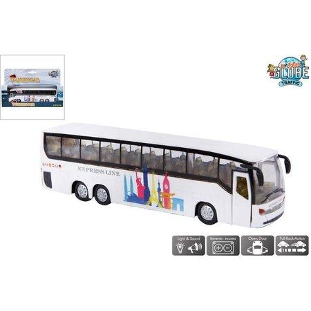 Kids Globe Auto pb Kids Globe shuttle bus + licht/geluid
