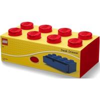 Opberglade Lego brick 8 rood