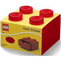 Opberglade Lego brick 4 rood