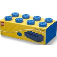 Opberglade Lego brick 8 blauw