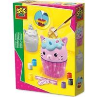 Figuren gieten en schilderen SES: cupcake kat