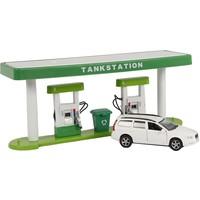 Tankstation Kids Globe met licht en Volvo V70