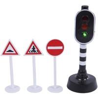 Verkeerslicht Kids Globe 3 verkeersborden met licht