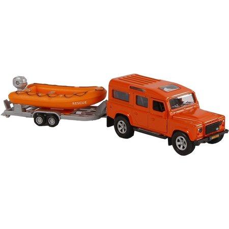 Kids Globe Auto Kids Globe Landrover en reddingsboot