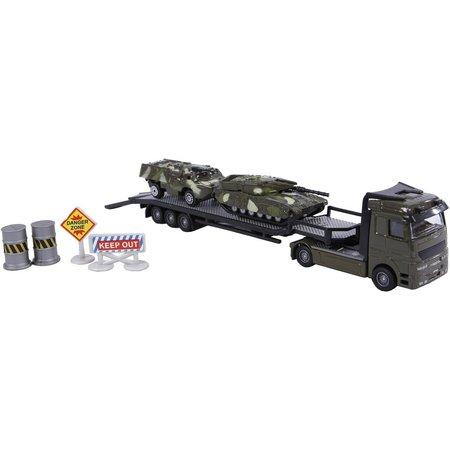 2-Play Auto 2-Play militair transporter met 2 tanks