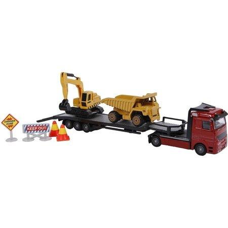 2-Play Auto 2-Play dieplader en 2 constructievoertuigen