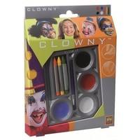 Schmink set SES 7 stuks kleur clown
