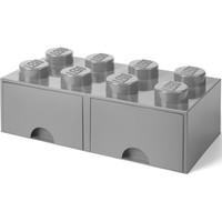 Opberglade Lego brick 8 grijs