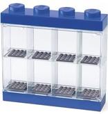 LEGO License Opbergbox Lego minifigs blauw 8-delig