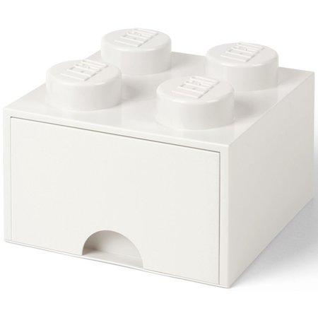 LEGO License Opberglade Lego brick 4 wit