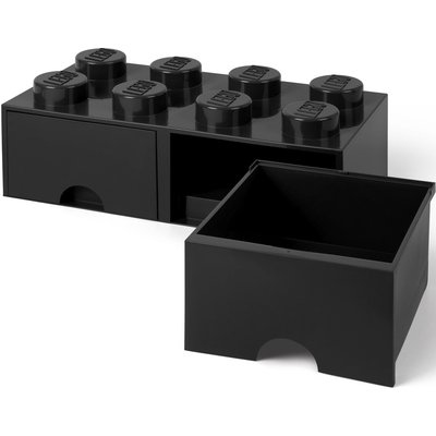 LEGO License Opberglade Lego brick 8 zwart