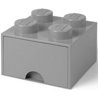 Opberglade Lego brick 4 grijs