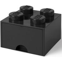 Opberglade Lego brick 4 zwart