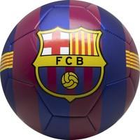 Bal barcelona leer groot blauw/rood stripes